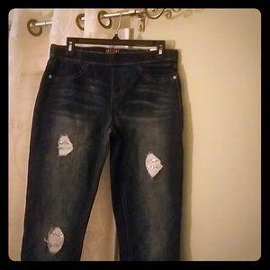 Legging mid rise jeans (plus size)